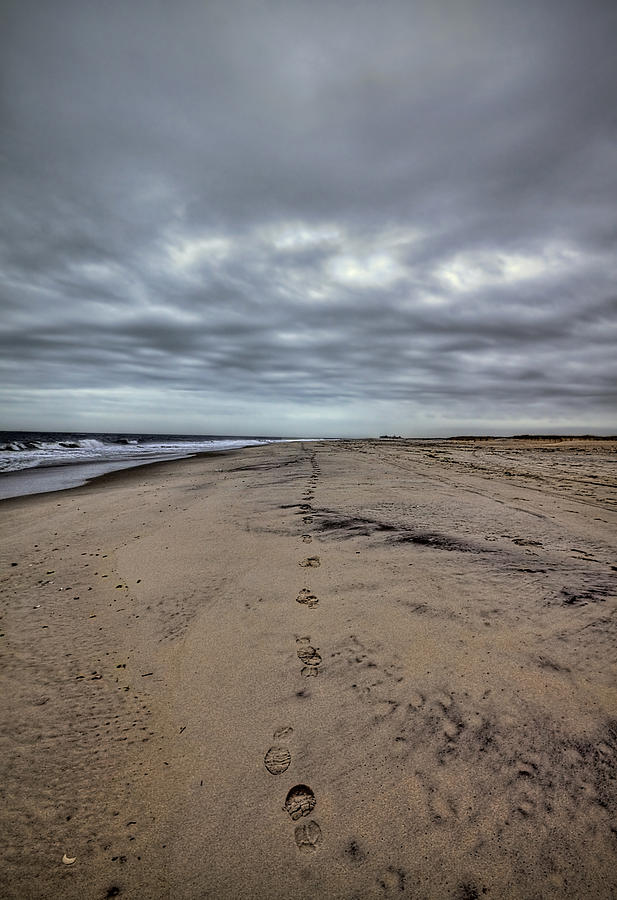 Beach Photograph - Walk The Line by Evelina Kremsdorf
