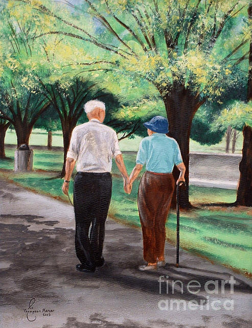 Couple Painting - Walk With Me by Jo Thompson Pennypacker