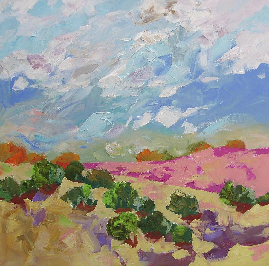 Landscape Painting - Walk With Me by Linda Monfort