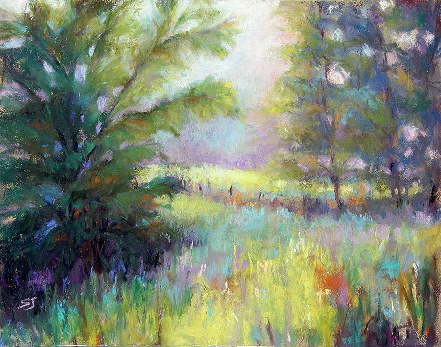 Landscape Pastel - Walk With Me by Susan Jenkins
