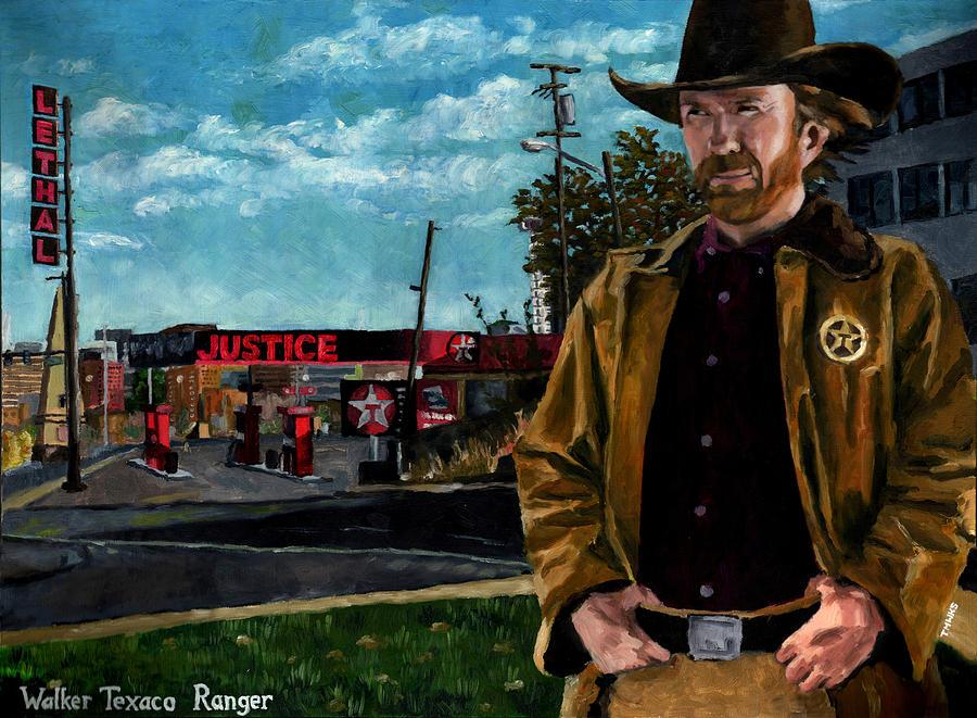 Chuck Norris Painting - Walker Texaco Ranger by Thomas Weeks