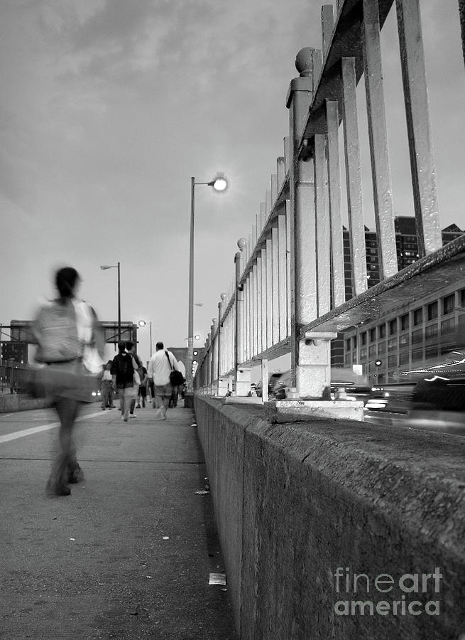 Walkers, Brooklyn Bridge, NYC #130508 by John Bald