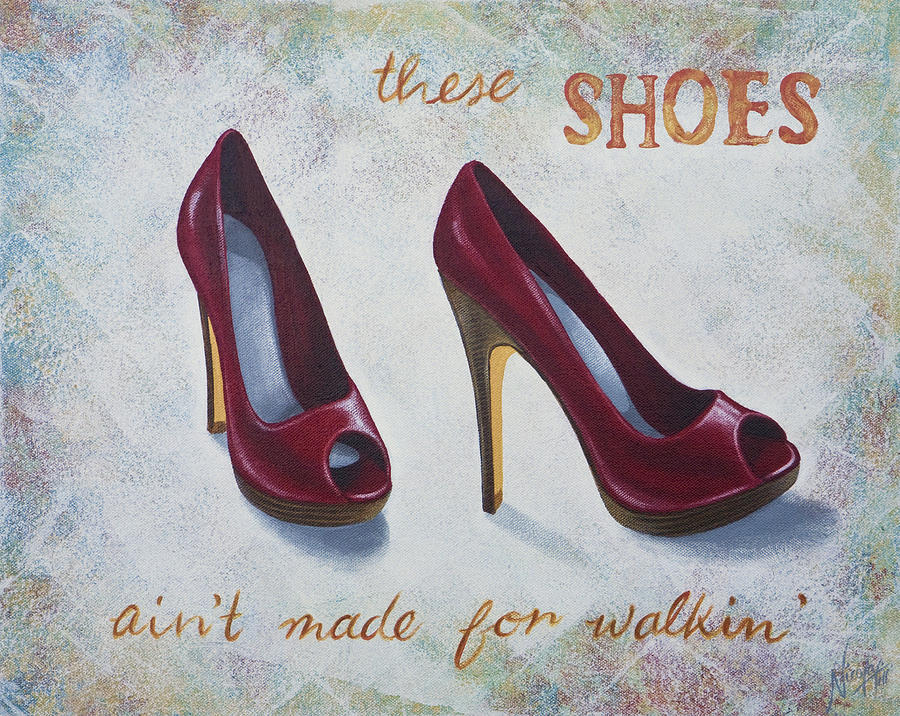 High Heels Painting - Walkin Shoes by Nicola Hill