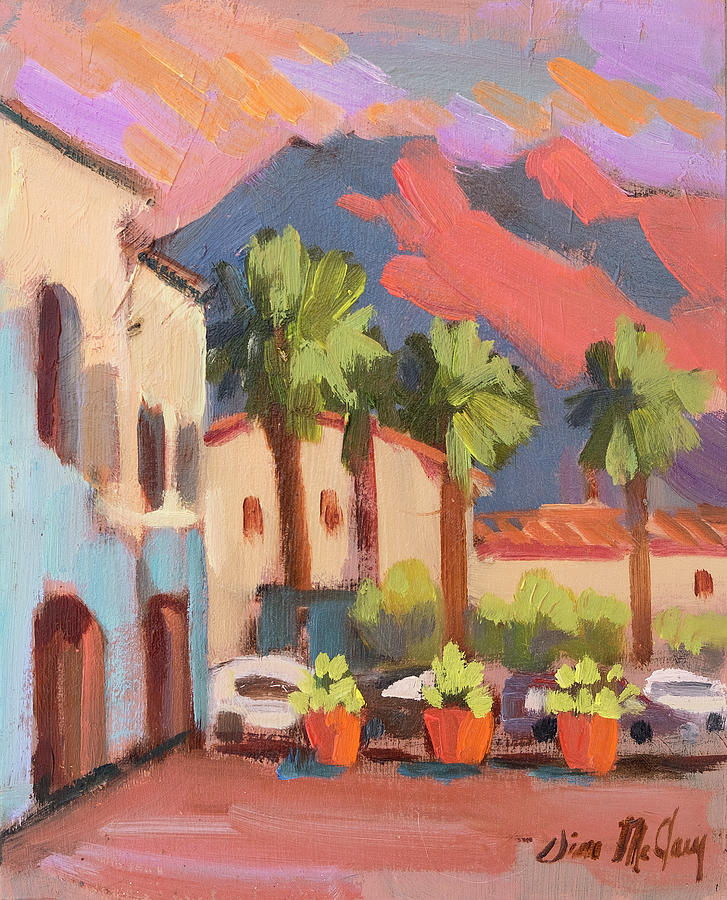 Walking Area in Old Town La Quinta by Diane McClary