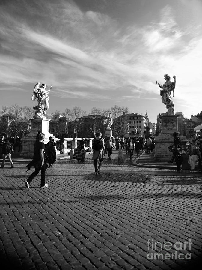 Walking Photograph - Walking Around Rome by Stefano Senise