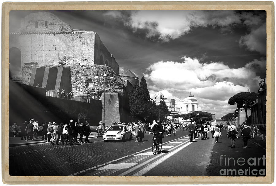 Walking Photograph - Walking Around The City Of Rome 2 by Stefano Senise