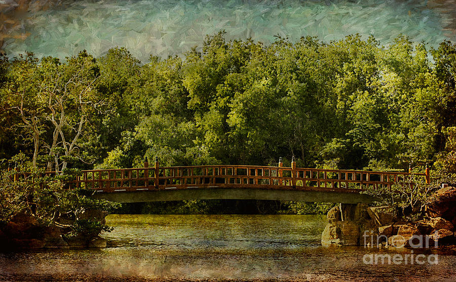 Abstract Photograph - Walking Bridge by Arlene Carmel