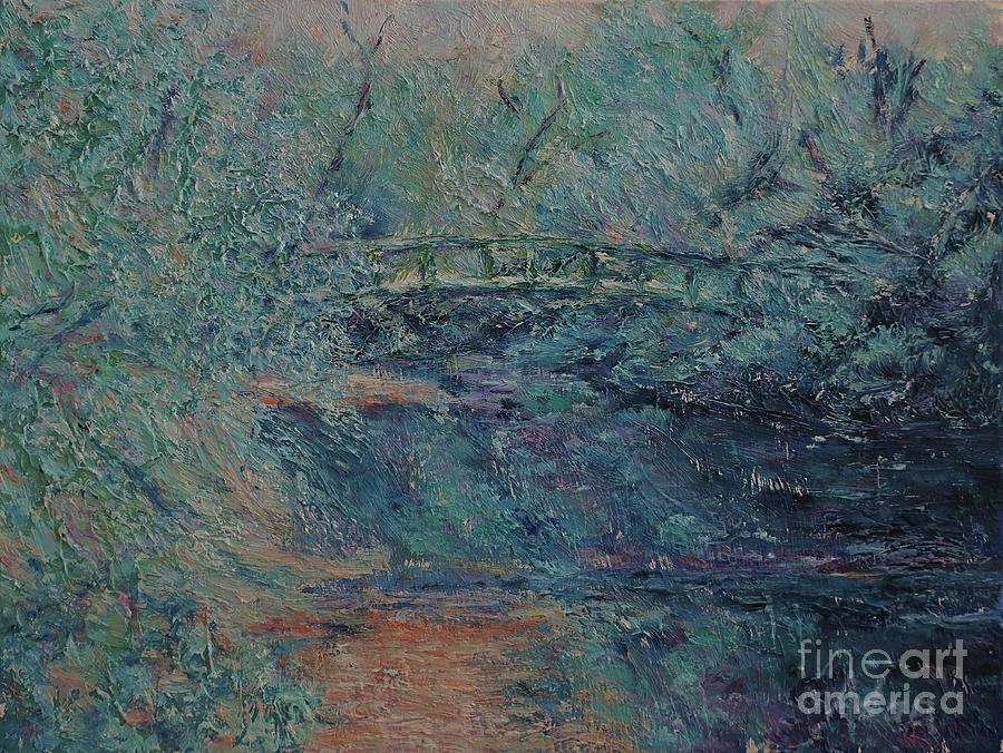 Walking Bridge Zilker Park Painting Painting