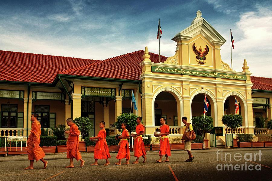 Asia Photograph - Walking by Buchachon Petthanya