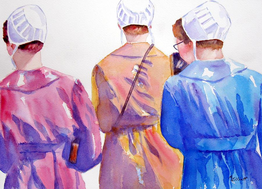 Amish Painting - Walking By Faith by Marsha Elliott