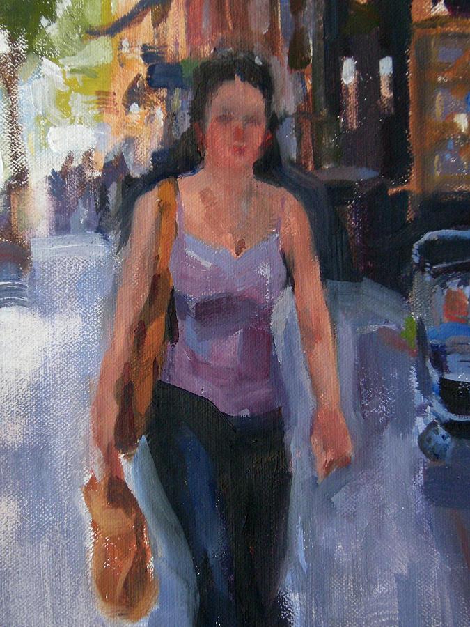 New York Painting - Walking Down Bleeker Street by Merle Keller