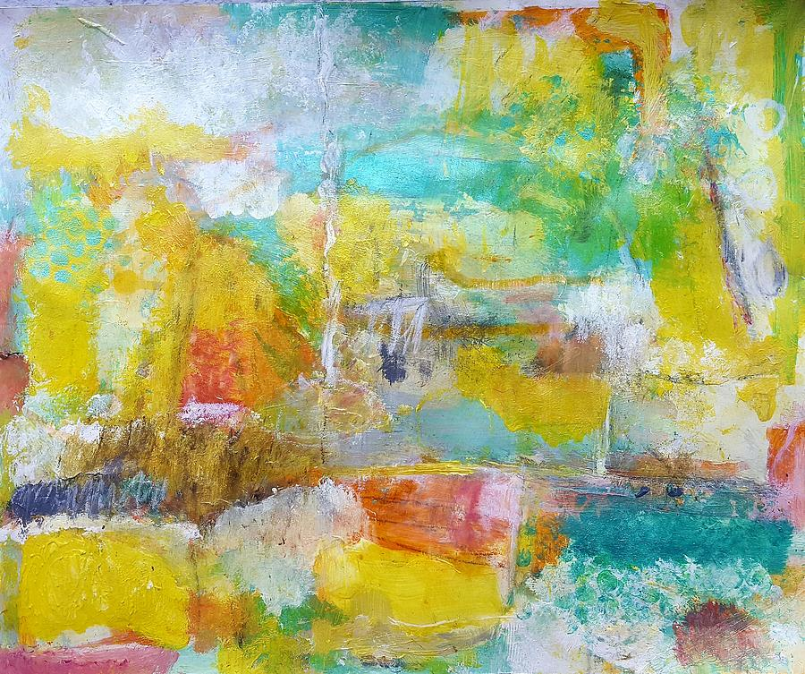 Abstract Painting - Walking Home by Patricia Byron