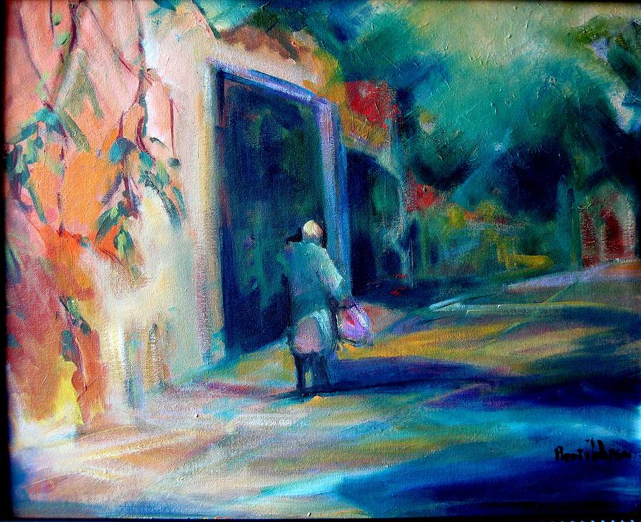 Expressive Painting - Walking Home by Pippi Johnson