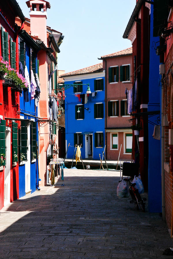 Italy Photograph - Walking In Burano by Carl Jackson