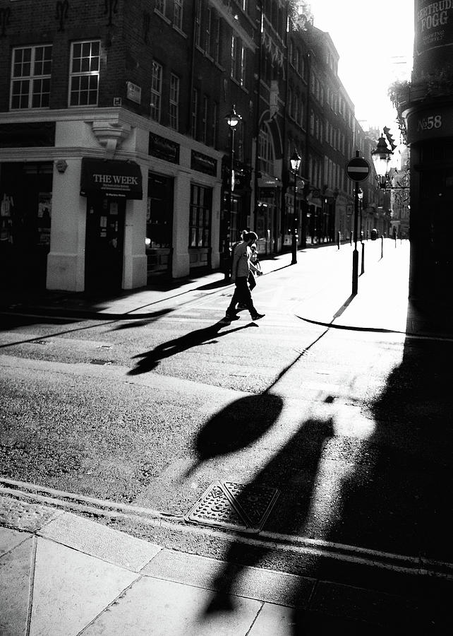 London Photograph - Walking In London by Lora Lee Chapman