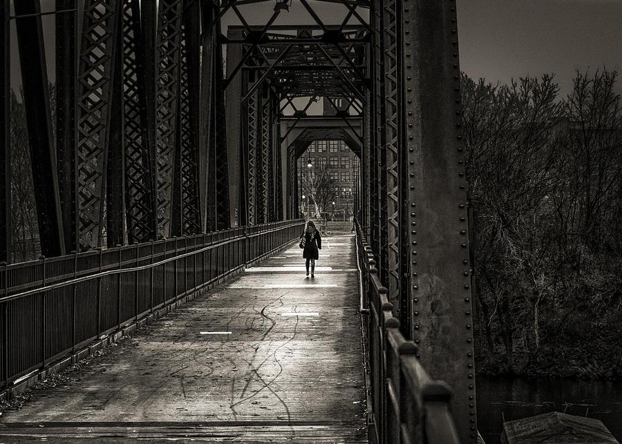Woman Photograph - Walking In The Rain by Bob Orsillo