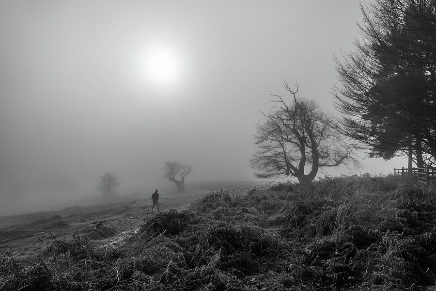 Fog Photograph - Walking Into It by Nick Bywater