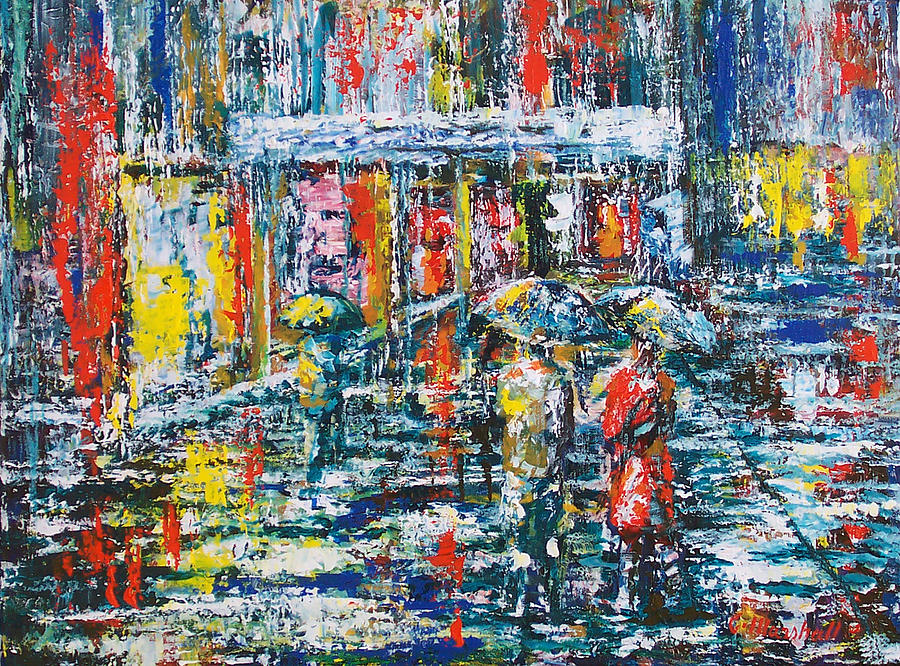 Painting Painting - Walking On Water by Claude Marshall