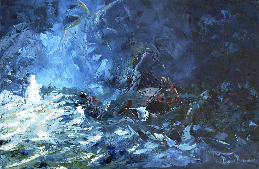 Abstract Painting - Walking On Water by Lewis Bowman