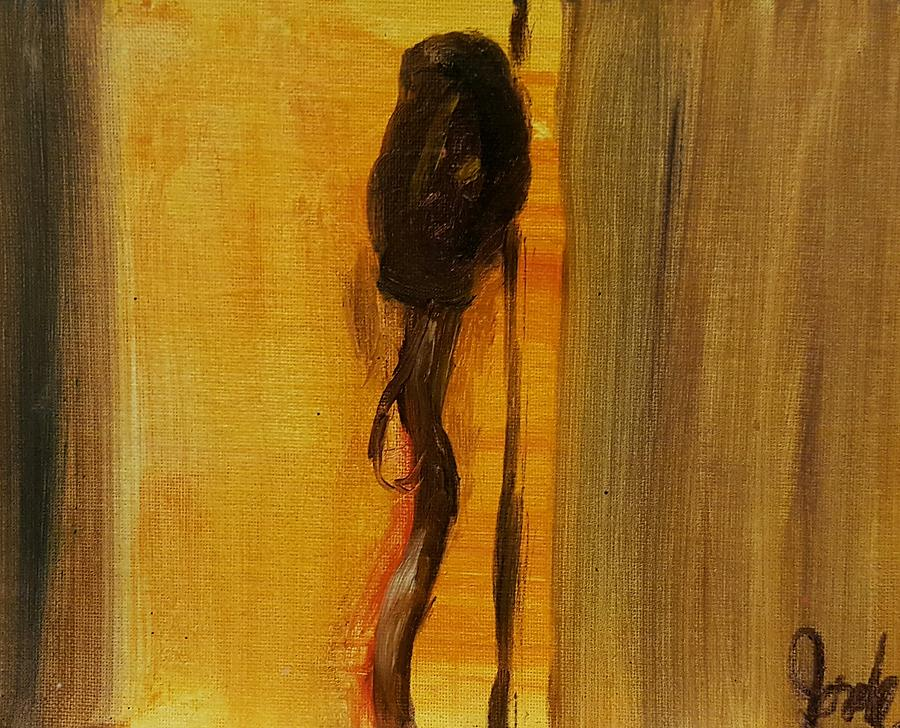 Still Life Painting - Walking Stick And Hat by Steve Jorde