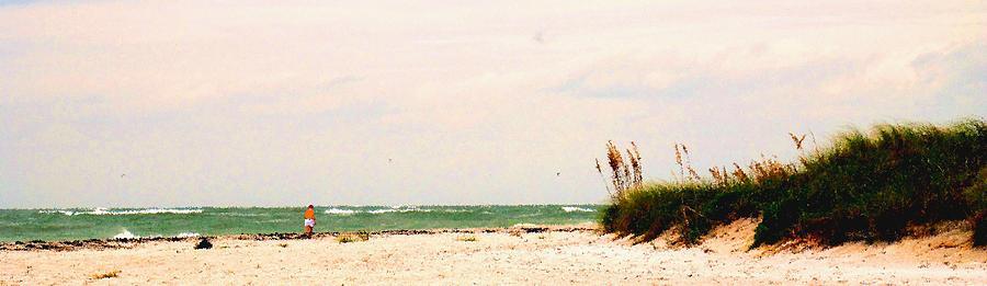 Florida Photograph - Walking The Beach by Ian  MacDonald