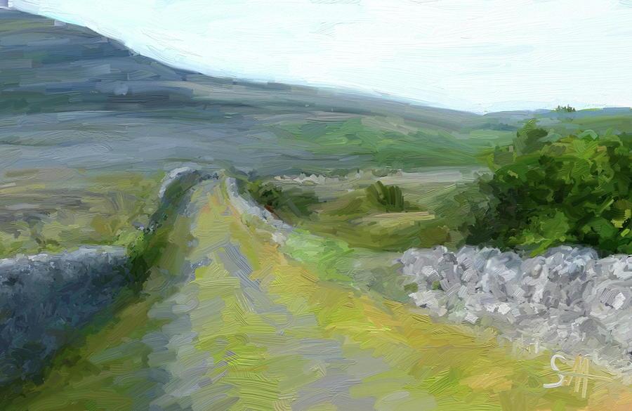 County Clare Digital Art - Walking the Burren by Scott Waters
