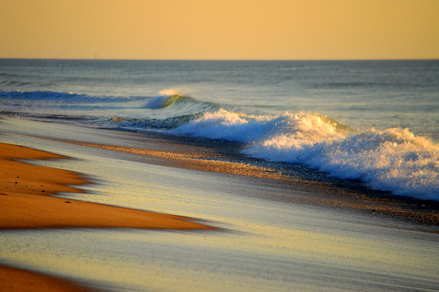 Ocean Photograph - Walking The Golden Seashore by Dianne Cowen