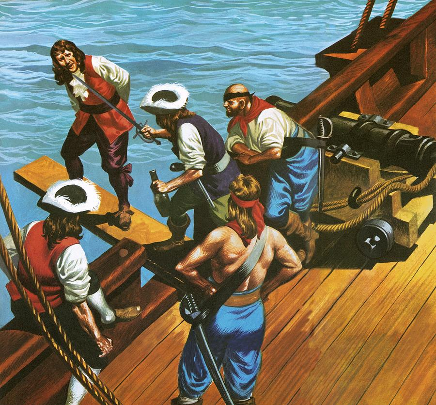 Walking The Plank Painting By Ron Embleton