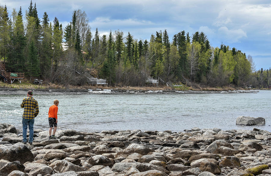 Kenai River Photograph - Walking the River by Crewdson Photography