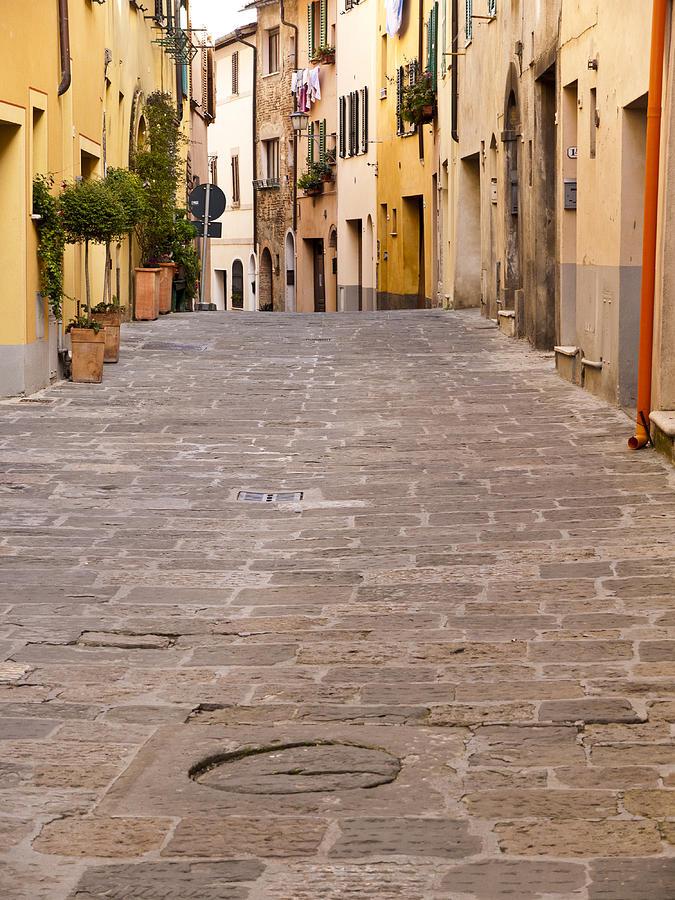 Montepulciano Photograph - Walking Through Montepulciano by Rae Tucker