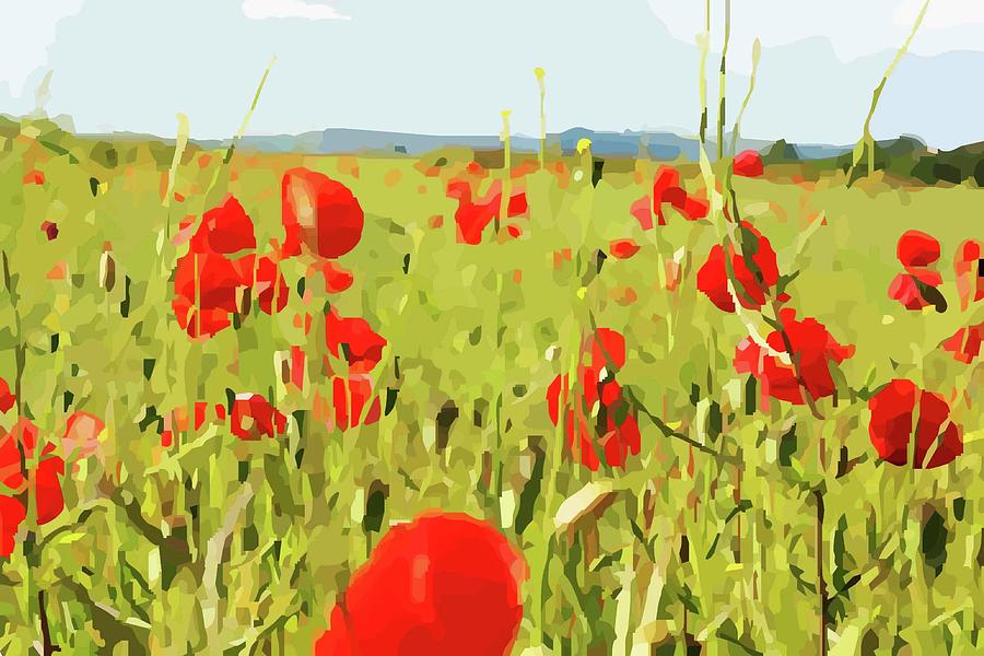 Walking Through Poppies by Mary Castellan