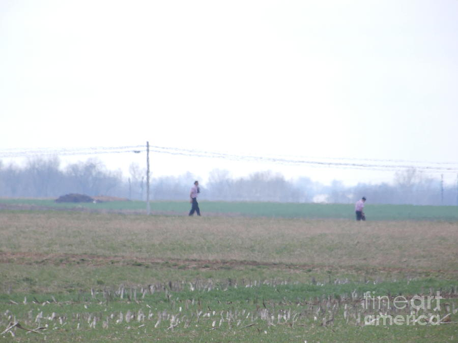 Amish Photograph - Walking To An Easter Monday Gathering by Christine Clark