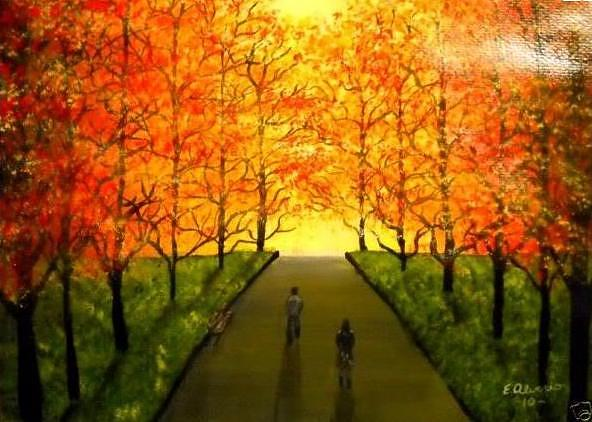 Walking Painting - Walking To The Light by Edwin Alverio