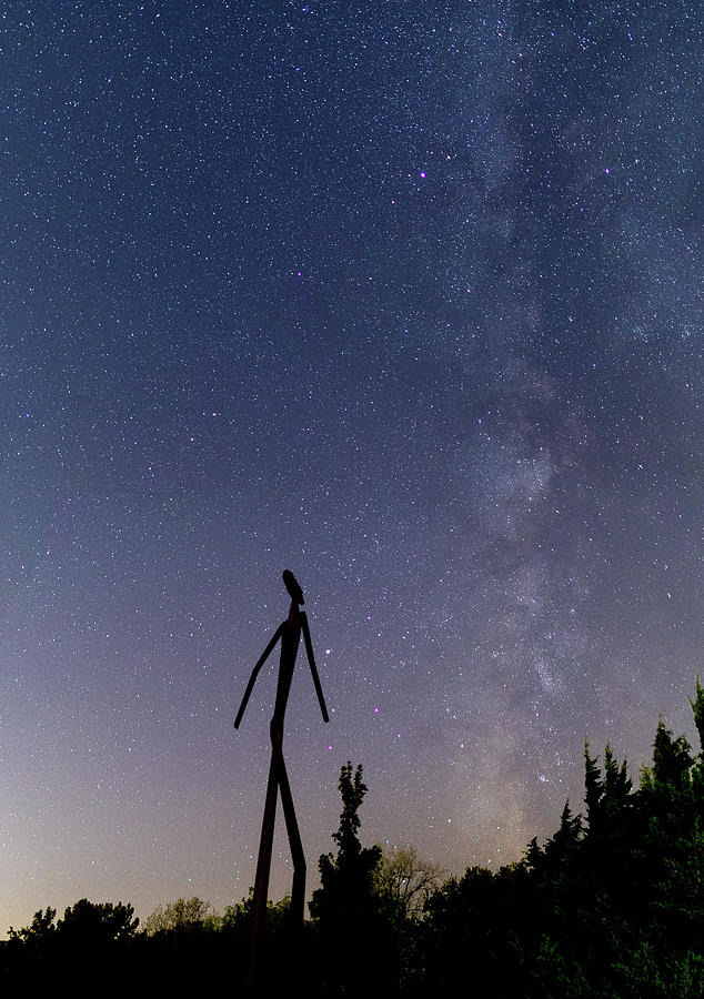 Milky Photograph - Walking to the Milky Way by Jon Friesen