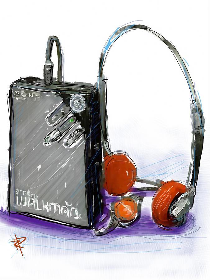 Sony Digital Art - Walkman by Russell Pierce
