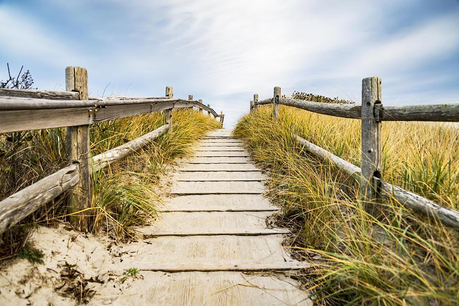 Beach Photograph - Walkpath To The Beach by Enrico Della Pietra