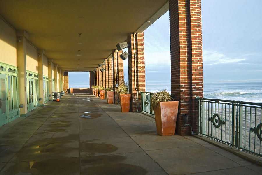 Asbury Park Photograph - Walkway Convention Hall by Andrew Kazmierski