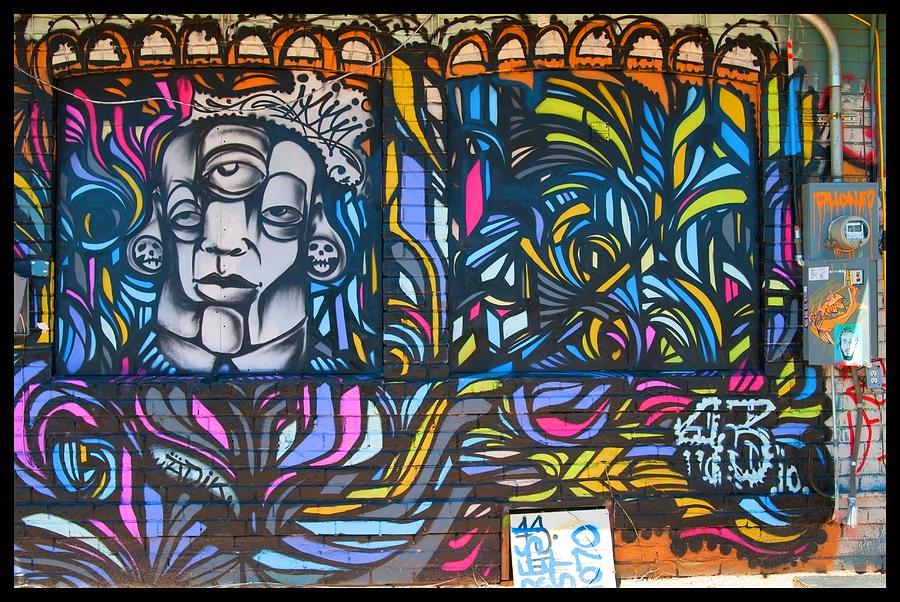 Graffiti Photograph - Wall And Colors by Courtney Lively