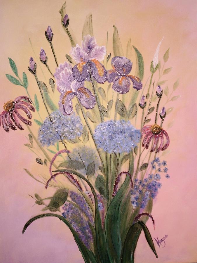 Arrangement Painting - Wall Art by Barbara Hayes