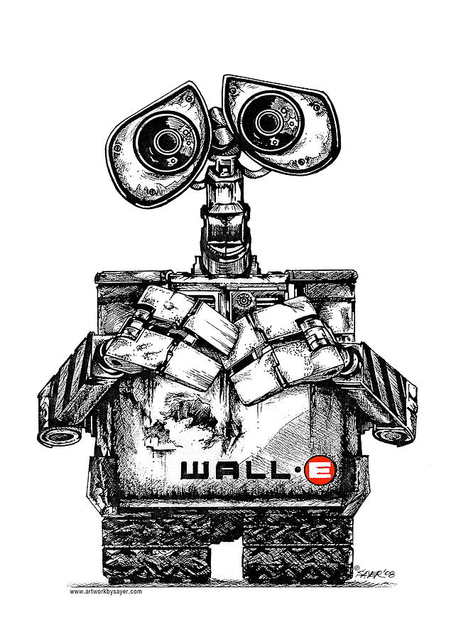 Wall-e Drawing by James Sayer