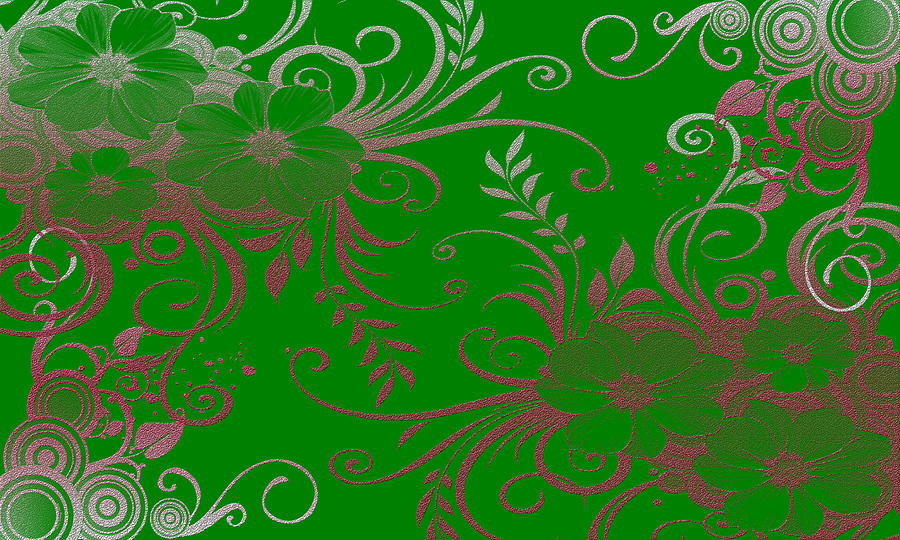 Flowers Digital Art - Wall Flower 2 by Evelyn Patrick