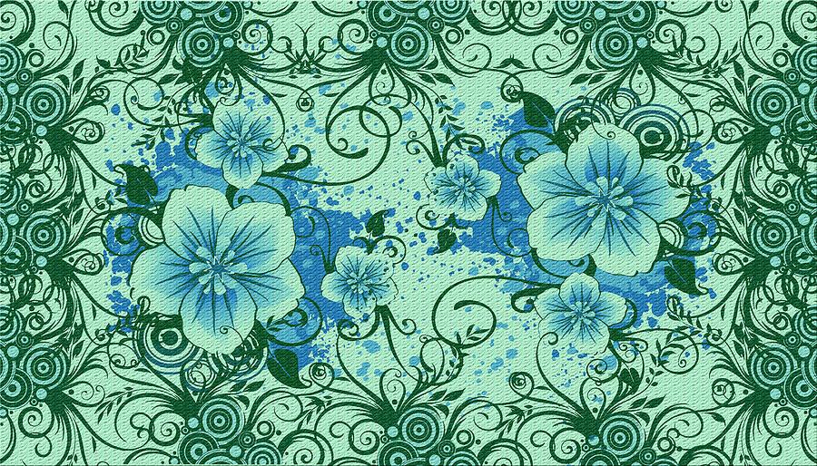 Digital Painting Digital Art - Wall Flower 8 by Evelyn Patrick