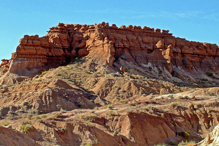 Utah Photograph -  Wall Of Goblins Along  Carmel Canyon Trail In Goblin Valley State Park, Utah   by Ruth Hager