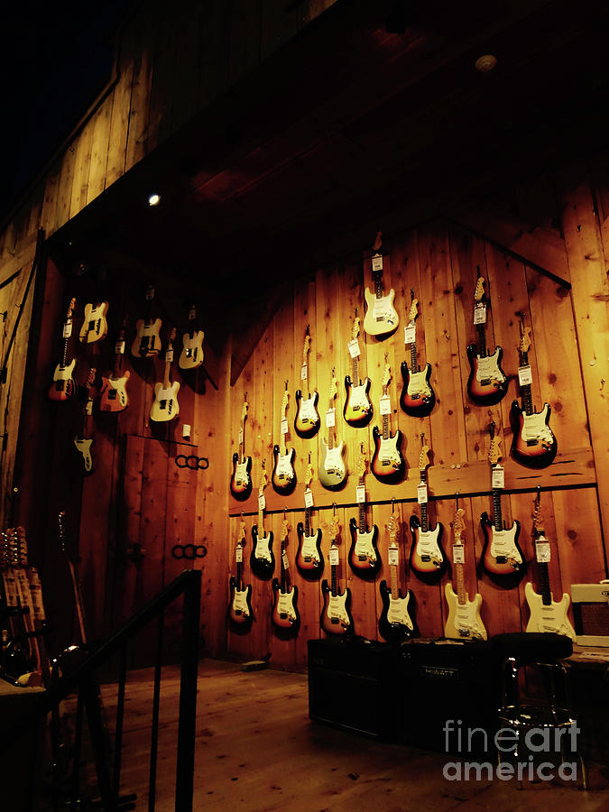 Wall Of Guitars 1 - Guitar Center Hollywood