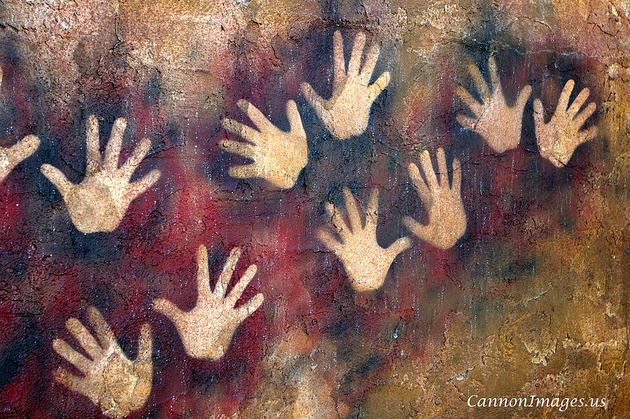 Hand Photograph - Wall Of Hands by Steve and Nanci Cannon