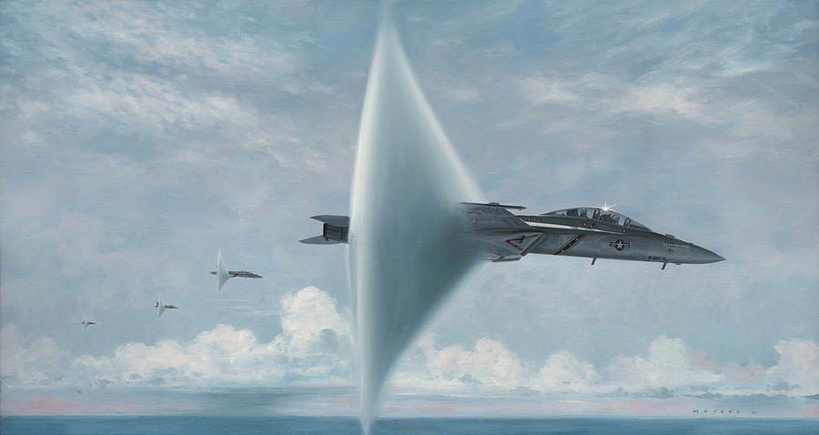 Super Hornet Painting - Wall Of Sound Redcocks Style by Wade Meyers