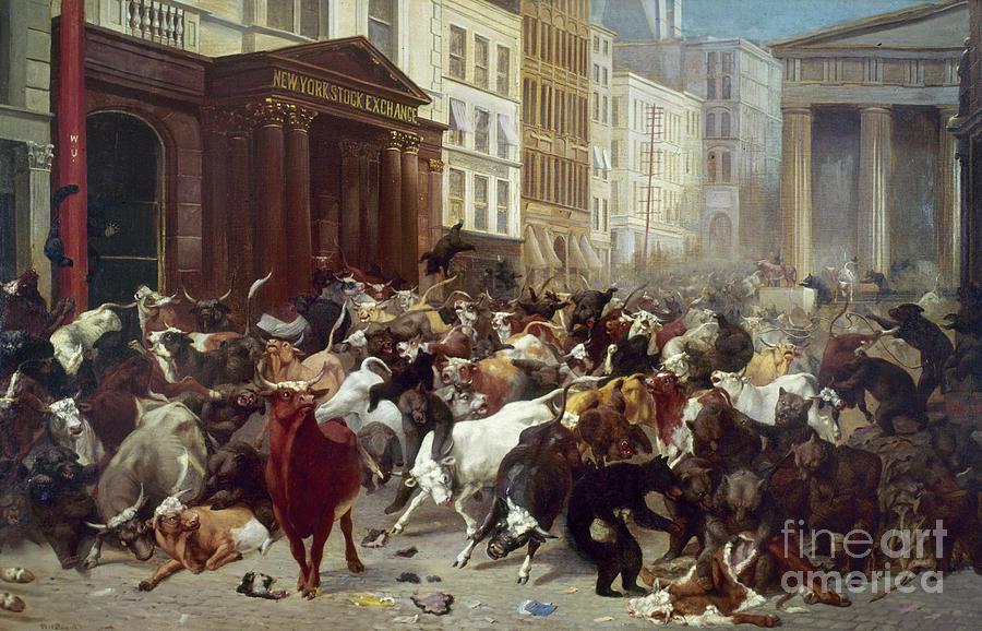 1879 Photograph - Wall Street: Bears & Bulls by Granger
