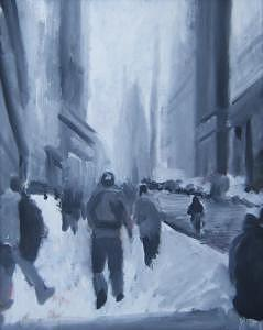New York Painting - Wall Street by Bill Nagel