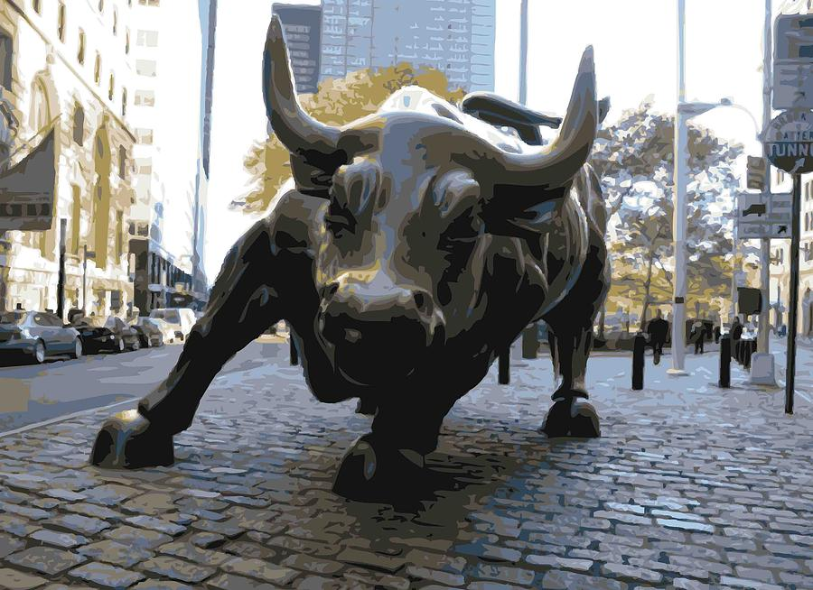 Wall Street Bull Photograph - Wall Street Bull Color 16 by Scott Kelley