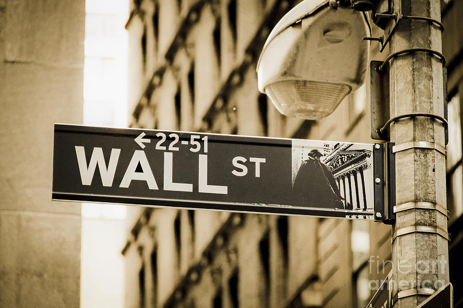 Wall Street Photograph by Juergen Held
